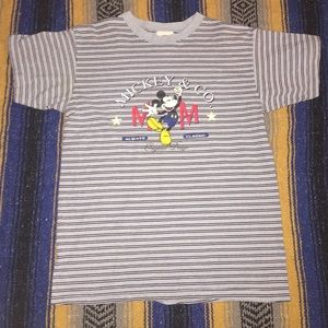 Vintage Striped Mickey Mouse Graphic T Shirt